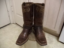 FRYE MOTORCYCLE HARNESS BOOTS GREAT CONDITION NOT MUCH USED 7.5M LEATHER