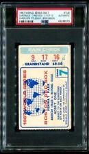 PSA Ticket Baseball 1967 World Series St. Louis Cardinals Gm 7 Clincher