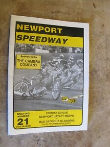 1998 Motorcycle Speedway Programme - Newport Wasps v Isle of Wight Islanders