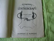 1946 REVISED EDITION GENERAL LEATHERCRAFT INSTRUCTION BOOK  BY RAYMOND CHERRY