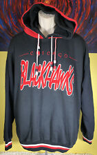 Vintage Men's Starter NHL Chicago Blackhawks Double Hoodie Sweatshirt Size Large