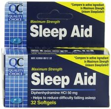 6 Pack - Quality Choice Maximum Strength Sleep Aid Softgels 32 Count Each
