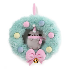 GUND H8 Pusheen Cat Super Plush Stuffed Toy Christmas Wreath 1