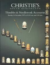 CHRISTIE'S SK Thimbles Sewing Needlework Accessories Ramstead Coll Catalog 1997