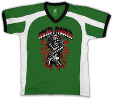 Santa Muerte Our Lady Of The Holy Death Mexican Skeleton Men's V-Neck Sport Tee