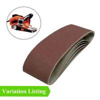 Sanding Belts 75 x 457mm for Wood & Metal Power Sanders / Grit Grade Options