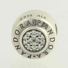 Genuine PANDORA Sterling Silver SPARKLING SIGNATURE Charm 791414 S925 ALE