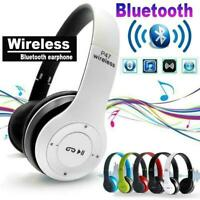 Wireless Bluetooth Headphones Stereo Gaming Headset Earphones Foldable F J3P8