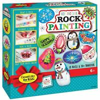 Creativity for Kids Holiday Hide & Seek Rock Painting Kit, Holiday Crafts