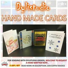 HAND MADE CARDS Seasons Greetings Plain Dylistudio Gift Card Quilling Embossing