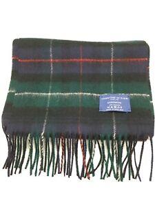Johnstons Of Elgin 100% Cashmere Plaid Tartan Fringe Scarf Made In Scotland EUC