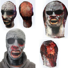 Lycra Spandex Zentai Face Mask Bloody Zombie Monster Halloween Costume Party OS