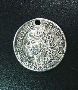 30pcs Tibetan Silver Coin Round Charms 19mm R740