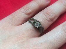 Anillo MUY ANTIGUO de cobre conserva piedra / gema incrustada. Ver Fotos.