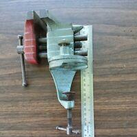 "Vintage Stanley H1210 Handyman Jeweler Bench Vise 2 1/2"" Jaw W/Anvil"