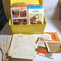 Vintage Betty Crocker's Step by Step Recipe Box 1971 50+ Handwritten Cards