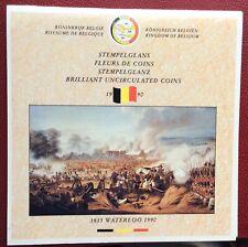 Belgique - Serie FDC 1990   FR + VL  - 175 ans de Waterloo