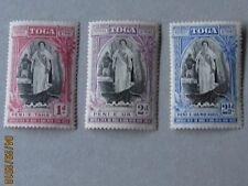 Tonga 1938 Commemorative set of three values. LHM.