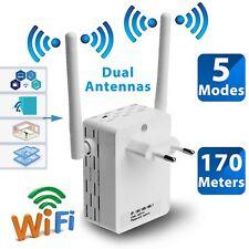 Wireless 300Mbps 802.11 AP Wifi Range Repeater Router Booster EU Plug 2 Antennas