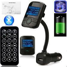 BLUETOOTH WIRELESS LCD AUTO MP3 LETTORE TRASMETTITORE FM + a distanza SD USB