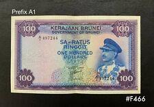 "Brunei - 1967  $100   ""Sultan Saifuddin III""   Prefix A1 | VF"