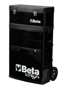 Beta C41H-N Two Module Mobile Tool Trolley Black Cabinet Tool Box Case - From UK