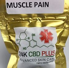 24KT GOLD Soothing Salve Muscle CBD Joint Pain Relief Coconut Oil -NO THC