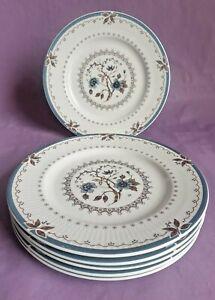 Vintage Royal Doulton Bone China 'Old Colony' 16.5cm Side Plates x 6