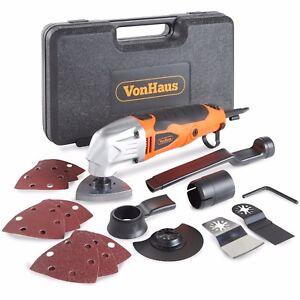 VonHaus 280W Oscillating Multi tool Detail Sander 15Pc Accessory Kit 230V Corded