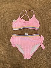Crewcuts girls pink seersucker bikini