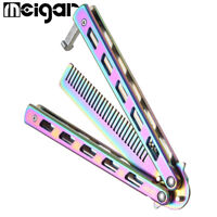 New Metal Practice Butterfly Comb Knifes Practice Trainer Cool Sports Tool a