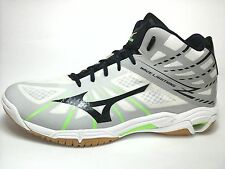 MIZUNO MID WAVE LIGHTENING Mens SHOES SNEAKERS Wht Blue high top US 14/48.5 $180