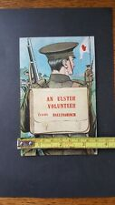 Pre Great War Ulster Volunteer Card 1915 Irish Rifles...