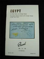 Robson Lowe Basel Auction Catalogue 1973 Egypt The 'Georges Gougas' Collection