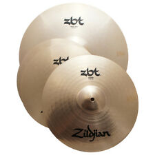 "Zildjian Zbts3P-9 Zbt Cymbal Pack 13"" Hihats 18"" Crash Ride 14"" Crash Box - Used"