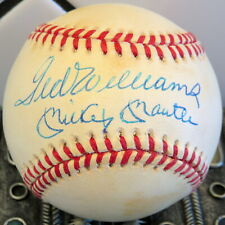 Nice! Mickey Mantle & Ted Williams Autographed Signed Baseball With Coa