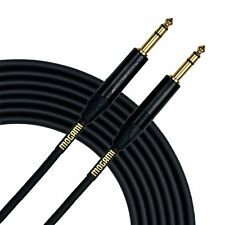 "Mogami 2534 Neutrik Gold 1/4"" TRS to TRS Stereo Balanced Patch Cable Black 3 ft"