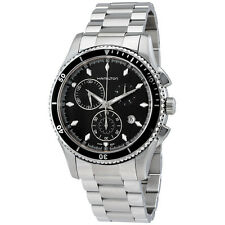 Hamilton Jazzmaster Seaview Black Dial Chronograph Mens Watch H37512131