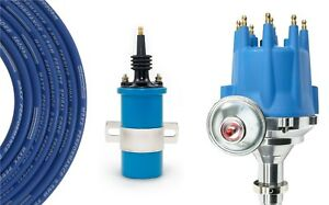 Billet Distributor 8.5mm Spark Plug Wires Coil 65-74 Big Block Chevy 396 427 454