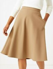 M&S COLLECTION  A-Line Midi Skirt~ Camel ~ PRP £35