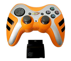 Pelican PL-6681 Nerf Wireless ORANGE Gaming Controller for PlayStation 2 PS2