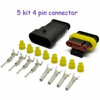 5 Kits 4 Pins Way Car Auto Sealed Waterproof Electrical Wire Connector Plug Hot