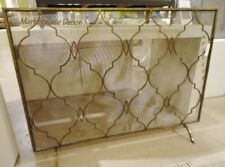 Antique Gold Modern Tuscan Moroccan Style Fireplace Fire Screen Flat Panel 47 W