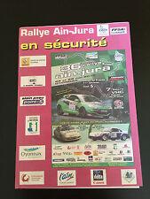 PROGRAMME MAP 36E RALLYE AIN JURA 2012 7E RALLYE VHC COUPE DE FRANCE - FFSA ESCA
