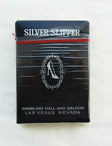Sealed Deck of Closed Silver Slipper Las Vegas Casino Playing Cards