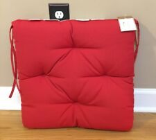 """NEW Pottery Barn Sunbrella Outdoor 19"""" Tuft Dining Chair Cushion RED"""