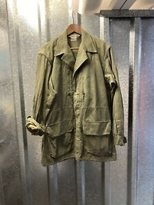Vintage French Military Green 1968 UGECO Army Utility Field Jacket Large