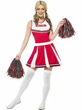Cheerleader Costume with Pom Poms, Fancy Dress, Large #CA