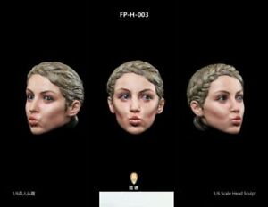 "1:6 FacepoolFigure FP-H-003 Head Carved w/ Expression For 12"" Female Figure"