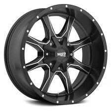 4 20 inch Moto Metal 20x9 MO970 Rims Wheels Black Milled +18mm 5x127 5x139.7